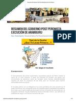 Resumen Del Gobierno Post Peronista
