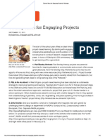 twenty ideas for engaging projects