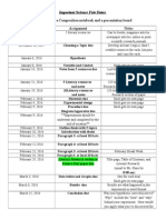 science fair important dates 16