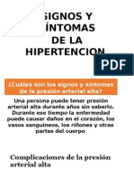 Signos de Hipertension
