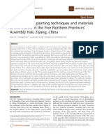 A Study on the Painting Techniques and Materials of the Murals in China