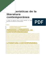 Características de la literatura contemporánea.docx