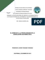 El Derecho a La Propia Imagen en La Legislacion Guatemalteca