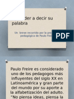 Aprender a Decir Su Palabra - Paulo Freire