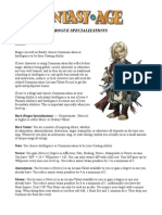 Character Classes - Rogue Specializations