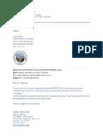 Complaint #1025533 E-mail