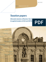 Taxation papers - Alternative Systems of Business Tax in Europe An applied analysis of ACE and CBIT Reforms