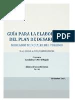 Guía para la elaboración del plan de desarrollo turístico