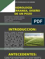 HIDROLOGIA SUBTERRANEA - DISEÑO DE POZO