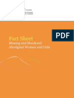fact sheet missing and murdered aboriginal women and girls