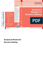 Colin Sanderson, Reninhold Gruen-Analytical Models for Decision Making (Understanding Public Health) (2006)