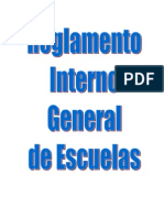 Reglamento General Interno de Escuelas Nivel Primario