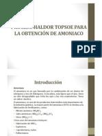 Proceso Industrial Para Obtener Amoniaco Del GN