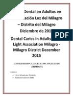 Problemas de Salud Oral en la Asociacion Luz del Milagro -Trujillo