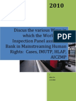 The World Bank Inspection and Human Rights Meanstreaming