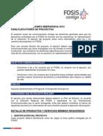 Anexo N°2 Comunicaciones Emergencia 2015 para Ejecutores de Proyectos