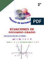 Ecuaciones cuadráticas2