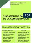 Fundamentos de La Adminsitracion