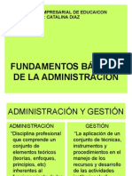 Fundamentos de La Adminsitracion