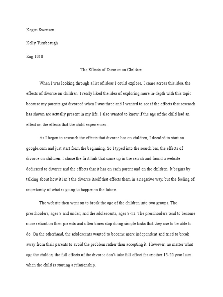 Narrative Essay Papers  Synthesis Essays also Conscience Essay Exploratory Essay  Divorce  Feeling What Is The Thesis In An Essay