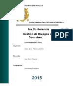 1ra conferencia desastres