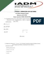Algebra Lineal Tarea Vectores