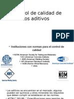 Control de Calidad de los aditivos