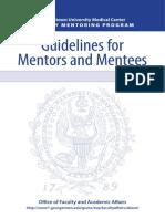 Georgetown Mentoring Guide