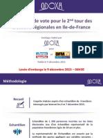 SONDAGE. Elections régionales