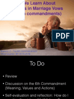 Third Quarter Lesson 7 - Session 2 6th Commandment and Faithfulness