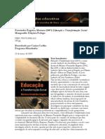 Educação e Transformação Social - en Resenhas Educativas