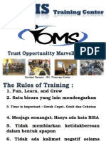 The Rules of Training