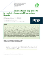 The role of community self help projects in rural development of Kwara state, Nigeria