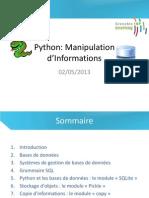 Manipulation d Informations