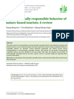 Environmentally responsible behavior of nature-based tourists