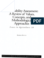 Sustainability Assessment a Review of Values