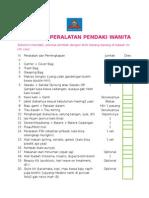 Checklist Pendakian untuk Cewe