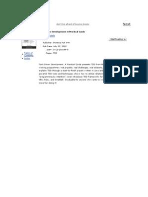 David Astels Test Driven Development a Practical Guide