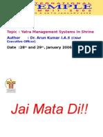 Shri Mata Vaishno Devi Shrine Board 2006