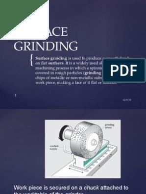 Surface Grinding | Grinding (Abrasive Cutting) | Machining
