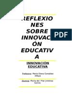 Reflexión Innovacion educativa.doc
