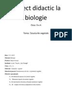 Proiect Didactic La Biologie Nr.4