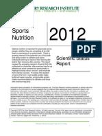 Scientific Status Report Sports Nutrition