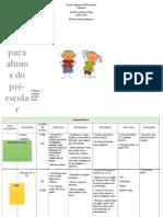 Planificação Semanal Pré -  Escolar