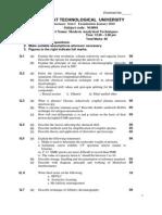 (Www.entrance-exam.net)-Gujarat Technological University M.pharm 1st Sem Modern Analytical Techniques Sample Paper 3