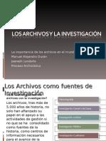 Los Archivos y La Investigacin 1214061426166356 9