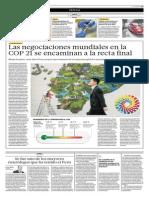 Las Negociaciones Mundiales en La COP21 Se Encaminan a La Recta Final