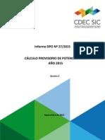Informe DPO Nº 27 2015 Pfirme2015 Prov5