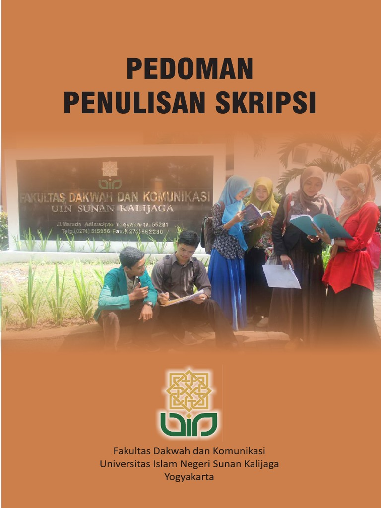 Buku Pedoman Penulisan Skrips Fakultas Dakwah Komunikasi Uin Suka Jogja Yog Pdf