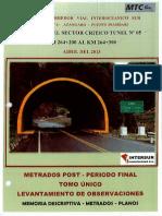 1_Sector Critico_Km.264+200 - Km.264+300_Tunel 5